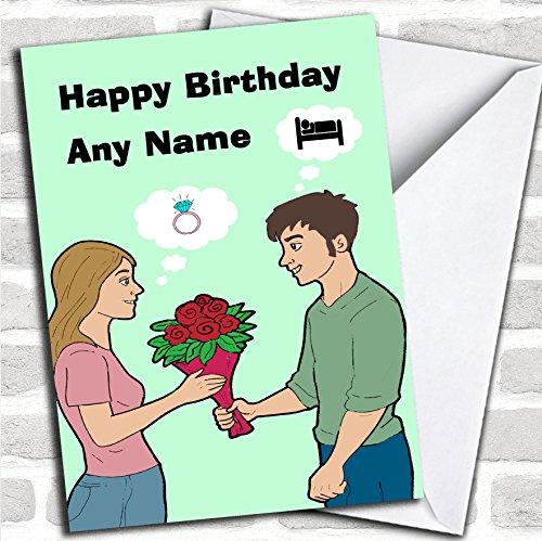 Grappige man en vrouw verjaardagskaart met envelop, kan volledig worden gepersonaliseerd, snel en gratis verzonden