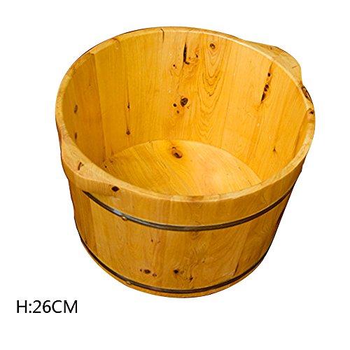 ERHANG Saunas Bassin De Pédicure Solide Bois Vapeur Bain De Pieds Baril Maison Massage Baril Fumigation Baignoire Adulte Bassin des Pieds,B