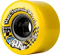 Sector 9 Race Formula Center-Set Skateboard Wheel, Yellow, 70mm 78A by Sector 9