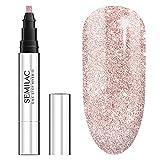 Semilac One Step UV Nagellack 3in1 in Stift-Form | Beige Farb | S245 Pink Beige | 3 ml | Innovativ UV LED Farblack | Nail Polish Ideal für zu Hause und Professionelle Maniküre