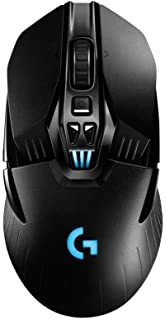 Logitech G903 Wireless Gaming Mouse with PowerPlay Wireless Charging Compatibility, Lightspeed Wireless, Enhanced Optical Sensor, Customisable Design, Lightweight Construction
