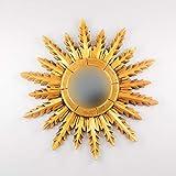Rococo Espejo Decorativo Tipo Sol de Madera Urban Surya de 50x50 en Oro...