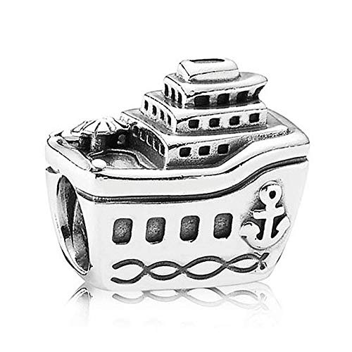 Pandora 925 Sterling Silver DIY Vintage Cruise Ship Charm Bead All Aboard Beads para mujer pulsera de joyería