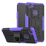 TiHen Handyhülle für Oppo F7 Hülle, 360 Grad Ganzkörper Schutzhülle + Panzerglas Schutzfolie 2 Stück Stoßfest zhülle Handys Tasche Bumper Hülle Cover Skin mit Ständer -lila