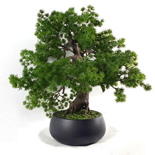 Leaf Árbol de Bonsai de Pino Artificial de 50 cm, 50cm