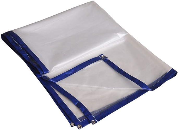 Bache de tente durable en plein airThickenedEtanche à l'épreuve des égratignures du soleilcreentarpaulintransparentclothbalconysunscrreeninsulationanti (Couleur   gris, Taille   2X8M)