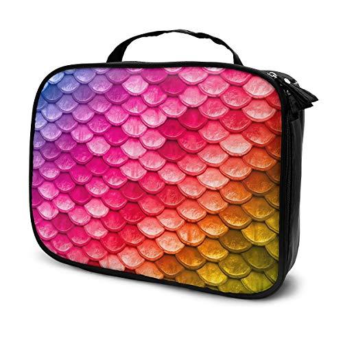 Sacs à cosmétiques pour les voyages des femmes, Étui à crayons Rainbow Mermaid Fish