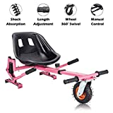 Hishine Hoverboard Seat Attachment for Self Balancing Scooter Go Kart Hover Board Accessories Compatible with 6'' 8.5'' 10'' for All...