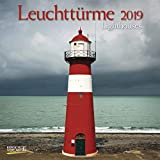Leuchttürme (BK) 226019 2019: Broschürenkalender mit Ferienterminen. Leuchtturm und Küste. 30 x 30 cm - Wandkalender