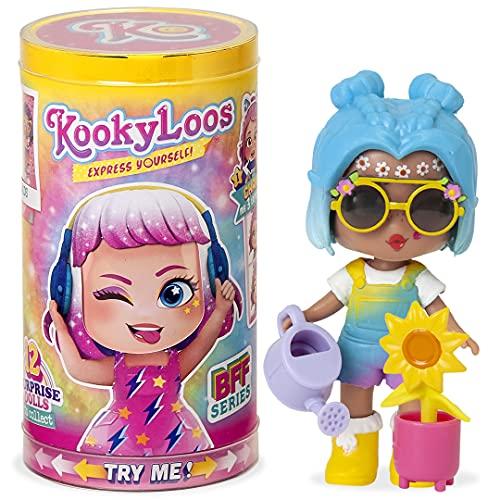 KOOKYLOOS - Muñeca sorpresa coleccionable con accesorios de moda, zapatos, vestidos y juguetes, con 3 expresiones divertidas