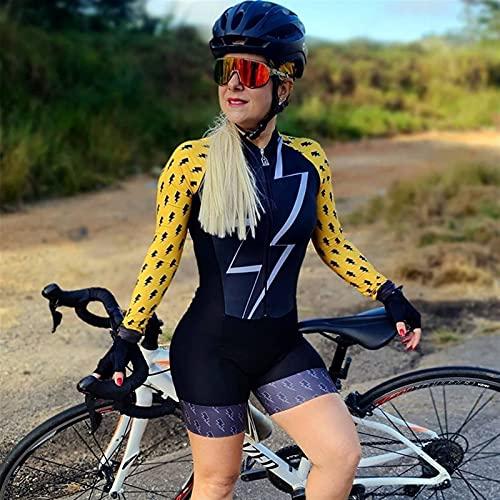 Vestito da donna Triathlon,collant da ciclismo manica lunga da donna (Color : 6, Size : X-Large)