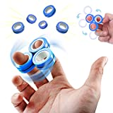Chylldem Magnetic Ring for Adults Teens, Fidget Toys for Stress Relief, Anti Anxiety, ADHD, Focus, Boredom, Magnetic Blocks for Kids, Fidget Ring Toys for Family Games (Blue, 3 PCS)