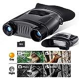 BEBANG Vision Nocturne Binoculaire, 640X480P HD Vision Nocturne Numérique Infrarouge avec 32Gb TF Carte Nocturne Enregistrement D'Images et de Vidéos Fonction pour Chasse