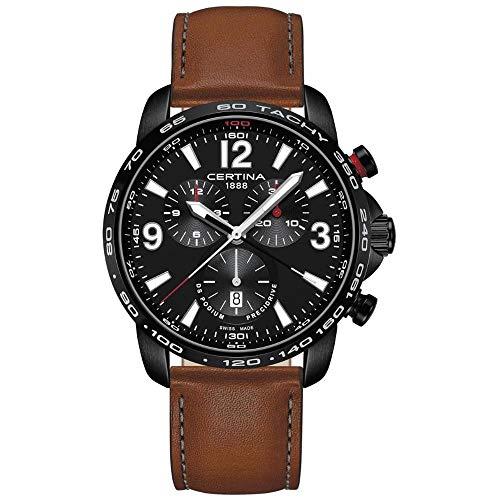 Certina DS Podium C001.647.36.057.00 Reloj cronógrafo con esfera negra