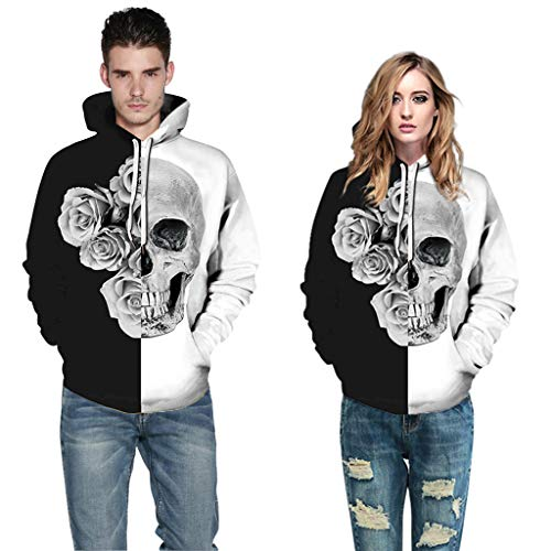 HHyyq Halloween Herren Coat Langarm Herbst Winter Casual Sweatshirt Hoodies Mantel Trainingsanzüge Jacke Mantel Pullover Outwear Reifen Bluse Oberseite T-Shirt Mode Tops Bluse Sweater Jacket