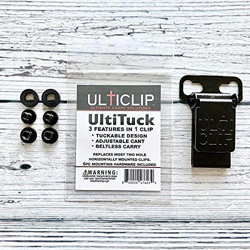 UltiTuck Holster Clip, tuckable, Adjustable, beltless, IWB