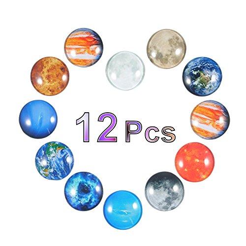 Refrigerador planetario Imanes para refrigerador 12 Imanes para refrigerador Imanes Premium Planet