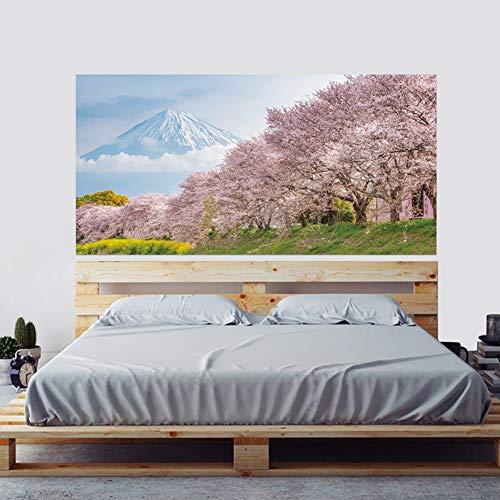 JXGG Sakura Forest 3D mesitas de Noche Personalizadas decoración del hogar Pegatinas de Pared murales 180x90cm