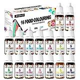 JEMESI Colorante Jabón 16 Colores - Colorante de Bomba de Baño Líquido para Fabricación de Jabón, Manualidades - Set de Colorante Alta Concentración Liquid para Colorear los Bebidas Pasteles