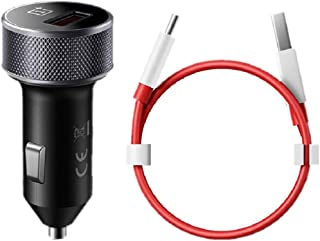 OnePlus Dash Car Charger, Oneplus 7 Pro/6T/6/5T/5/3T/3 Car Charger Dash Charger with Quick Charge USB Type C Data Cable Power Charger for One Plus 3 / 3T / 5 / 5T / 6 / 6T/ 7 (Charger+Cable)