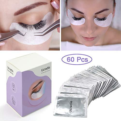 60 Paare Wimpernverlängerung Augenpads - Lint Free Under Eye Gel Pads für Eyelash Extensions,...