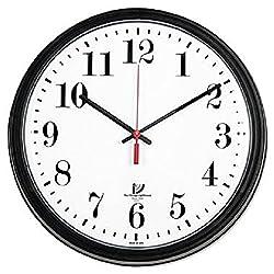 Chicago Lighthouse 13-3/4 Round Wall Clock Black ILC 67700002