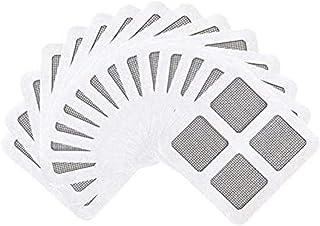 網戸補修シール 網戸パッチ 網戸補修テープ 両面テープ付き 簡単取り付け カット自在 風通し 虫よけ 防虫網12枚入り