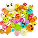 Wanruisi 30 Pack Squishy Toy Jumbo Food Squishise Cat Hamburgers Cream Scented Slow Rising Squishies Charms, Kid Toy, Lovely Toy, Stress Relief Toy, Cell Phone Straps Key, Chains Stress Relief Toy