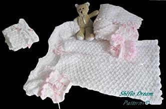 CP7 - Crochet Pattern Baby Christening Gown