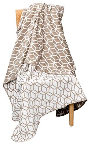 Moon 3D Luxus Kuscheldecke Wolldecke 150x200-beige