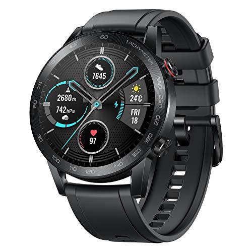 Honor MagicWatch 2 46 mm Smart Watch, Fitness Activity Tracker con Monitor de Ritmo cardíaco y estrés, Modos de Ejercicio, aplicación para Correr y Altavoz y micrófono Integrados, Color Negro/carbón