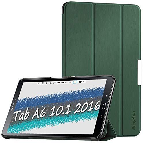 EasyAcc Case voor Samsung Galaxy Tab A6 10.1 2016 (SM-T580 / T585) - Ultra Slim Lichtgewicht Smart Cover Compatibel voor Galaxy Tab A6 10.1 Inch 2016 met Standfunctie/Auto Slaap Wekker (Groen)