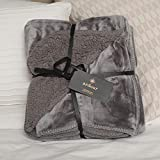 Shop LC Ardour Gray Velvet Berber Throw Blanket Soft Lightweight Comfortable for Bedroom Sofa Couch