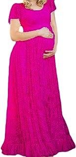 Nicellyer 女性の妊娠中の基本的なルーズレースを牽引して中央の長さのドレス