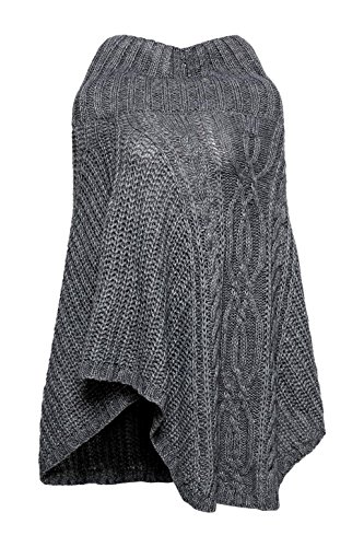 ESPRIT Accessoires Damen 107EA1Q036 Schal, Grau (Dark Grey 020), One Size