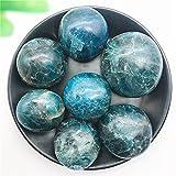 """YSJJAXR Piedra de Cristal Natural Hermosa 1 UNID Natural Azul Apatite Pala Masaje DE Piedra DE Piedra CANACIÃ""""N Reiki Cristal Madagascar Piedras Naturales y minerales (Size : 60 70g)"""