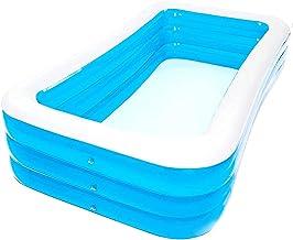UKJRETU Piscina rectangular, piscina infantil inflable familiar, fácil de instalar, piscinas para niños y adultos para fiestas de verano al aire libre (tamaño : 3 capas) (tamaño : 4 capas)