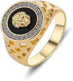 Dixey Luxury Anillos de Hombre Titanio Chapado en Oro Italy Design RI0048
