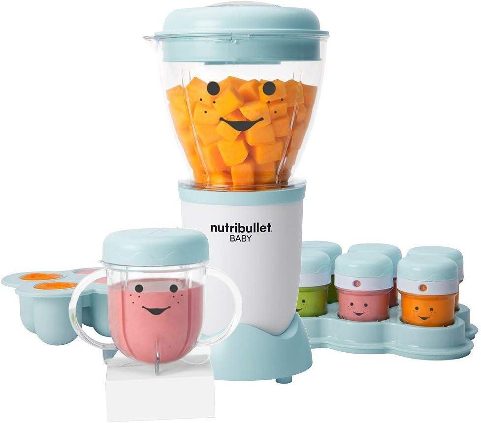 Nutribullet Juego de 18 piezas para bebé, 200 W, puré de alimentos para bebés y almacenar con 1 sistema