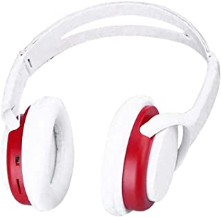 Ugood Earphone,Wireless Headphones Headset Noise Cancelling Earphone Card TF And FM Radio (Red