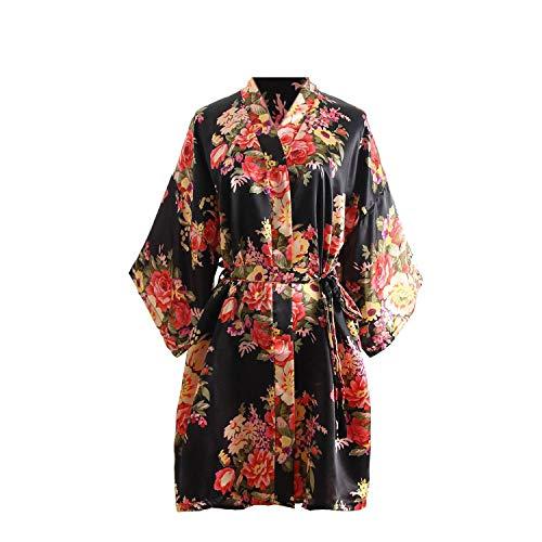 Taigood Mujeres Satén Kimono Bata Florece Batas de...