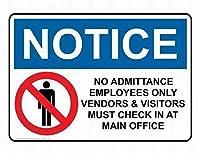 ヴィンテージルックファニーメタルティンサイン、従業員のみの情報、ティンサインアートアイアンペインティングメタルプラークヴィンテージウォールインテリアポスターハウスカフェレストランバー
