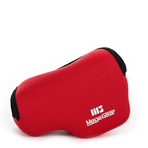 MegaGear ''Ultra Light'' Neoprene Kameratasche mit Karabiner für Sony NEX-5TL, Sony NEX-5R, Sony NEX-3N mit Sony SELP1650, Sony A5000, Sony A5100 16-50mm (Rot)
