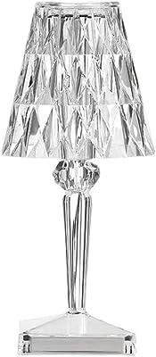 Veilleuse USB en cristal acrylique transparent Prisme Veilleuse Lampe de chevet Décoration de maison Chambre à coucher (RVB)