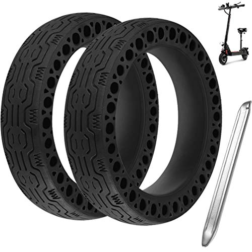 RUNACC Reifen Felge Frei Ersatz Solide Felge Ersatzreifen mit 1 Felgenheber für Xiaomi M365 Elektro-Scooter Gummi Solid Tyre Reifen Ersatzräder