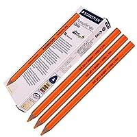 StaedtlerステッドラーDry蛍光ペン鉛筆12864図面for Writingスケッチインクジェット、紙、コピー、Fax (12個パックオレンジ)