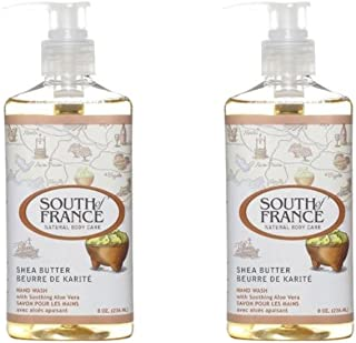 South of France Liquid Soap, Shea Butter, 8 Fluid Ounce (Pack of 2)