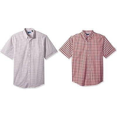 Arrow 1851 Men's Big and Tall Hamilton Poplin Short Sleeve Button Down Shirt