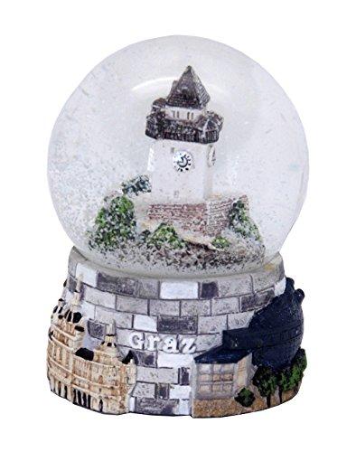 Minium Collection 30064 Souvenir Schneekugel Graz Österreich Uhrturm 65mm Durchmesser