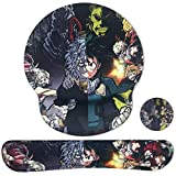 Sosolong Anime Mouse Pad My Hero Academia Computer Mouse Pad for Boys Room Game Room, Memory Foam Mouse, Keyboard and Wrist Pad Combination Set,